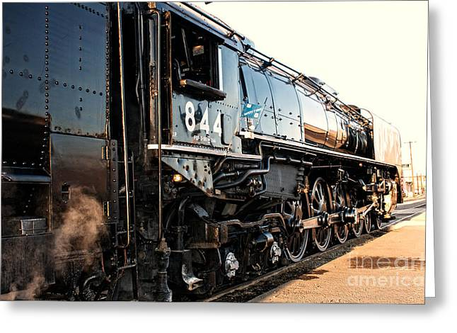 Greeting Card featuring the photograph Union Pacific Engine #844 by Vinnie Oakes