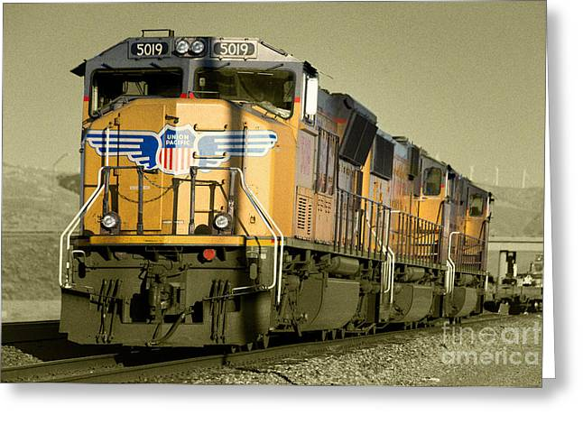 Union Pacific  Greeting Card by Rob Hawkins