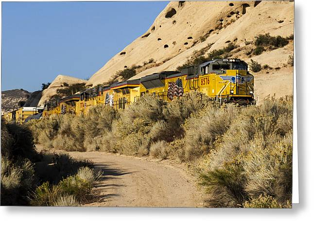 Union Pacific Rolling Through The Mormon Rocks Greeting Card