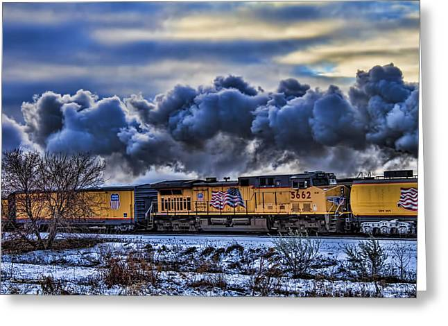 Union Pacific Train Greeting Card