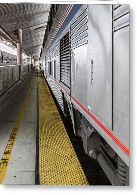 Union Station Amtrak Platform Greeting Card