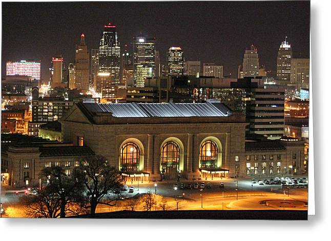 Union Station At Night Greeting Card