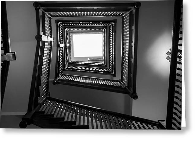 Union Station Hotel Stairway Greeting Card