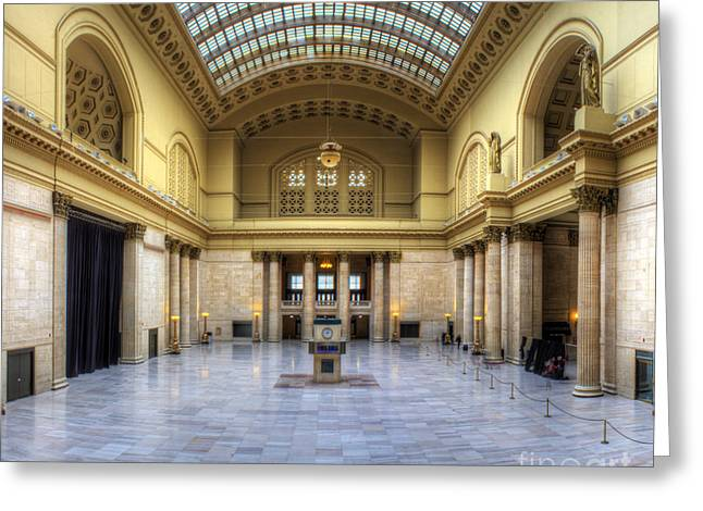 Union Station In Chicago Greeting Card