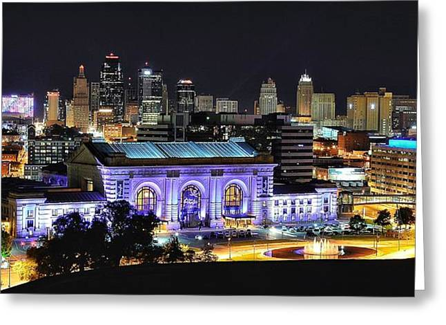 Union Station In Purple Greeting Card