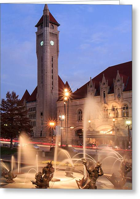 Union Station In Twilight Greeting Card by Scott Rackers