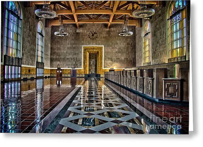 Union Station Interior- Los Angeles Greeting Card