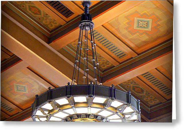 Union Station Light Fixture Greeting Card