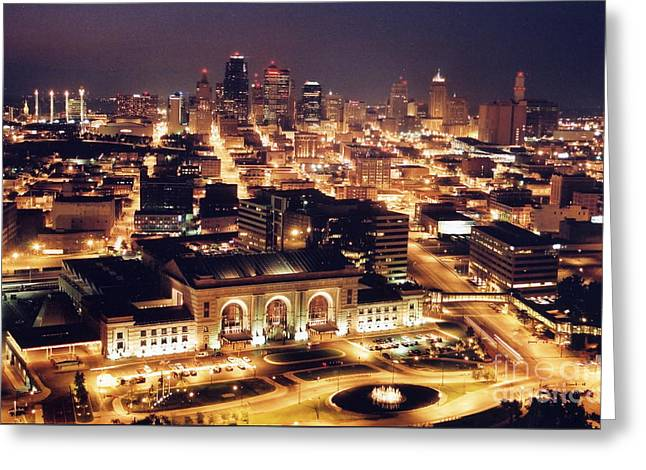 Union Station Night Greeting Card