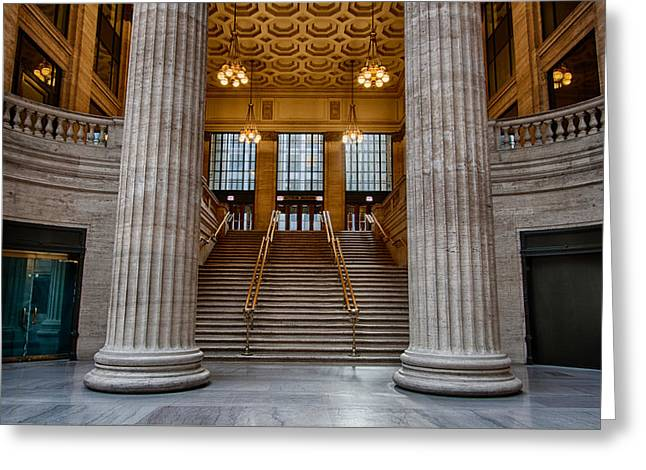 Union Station Stairs Greeting Card by Mike Burgquist