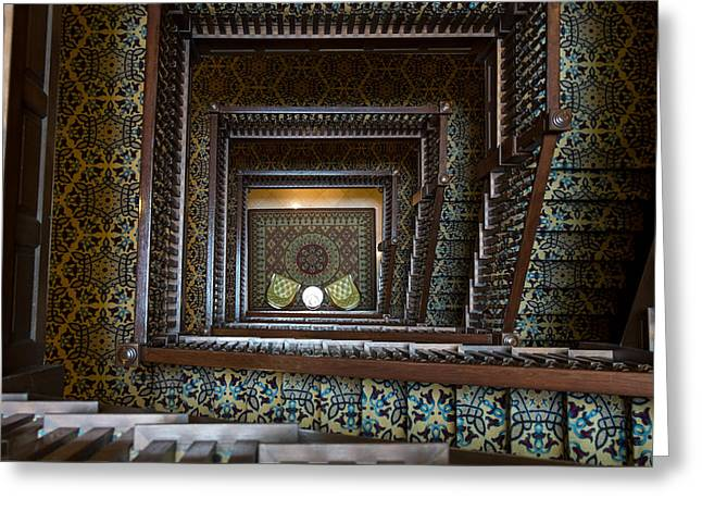 Union Station Stairway Greeting Card by Glenn DiPaola