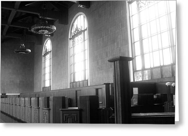 Union Station Ticketing Room Greeting Card by Karyn Robinson