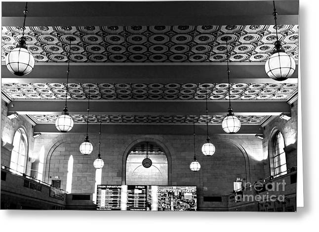 Union Station Waiting - New Haven Greeting Card