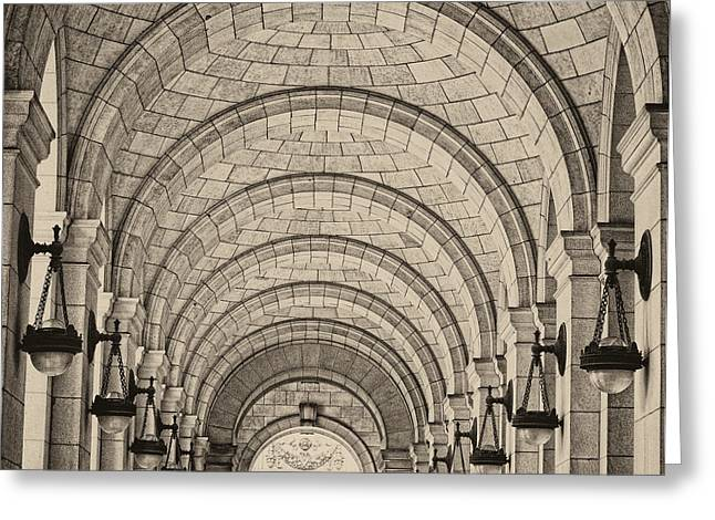 Union Station Washington Dc Greeting Card by Lillis Werder