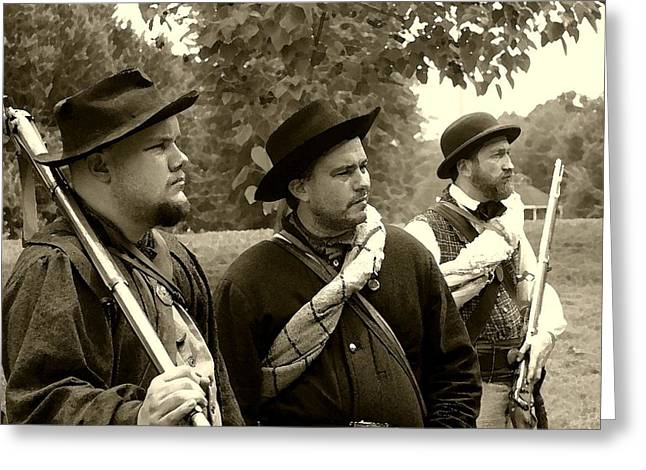 Union Troops Awaiting Orders - Brandenburg Ky Greeting Card by Thia Stover