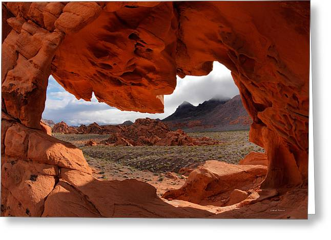 Unique Arch Nevada Greeting Card by Leland D Howard