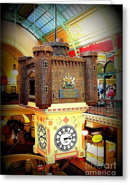 Unique Sydney Mall Clock Greeting Card by John Potts