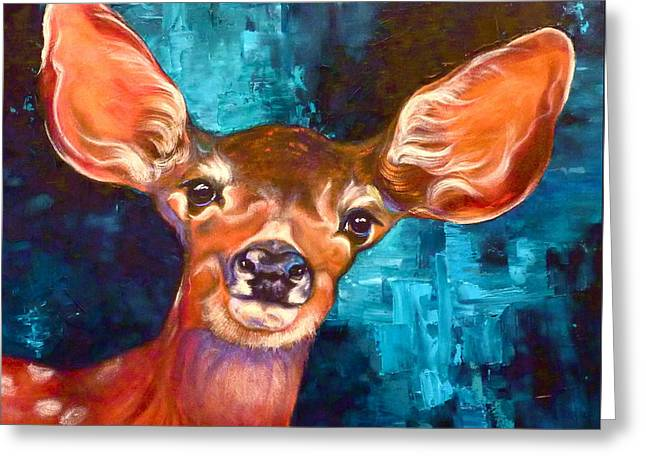 Uniquely Fawn Greeting Card