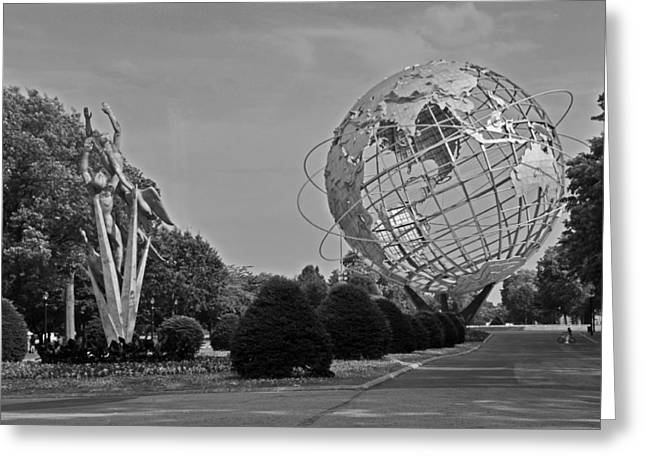 Unisphere In Corona Park Greeting Card by Mike Martin