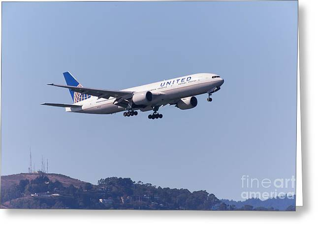 United Airlines Jet 5d29537 Greeting Card