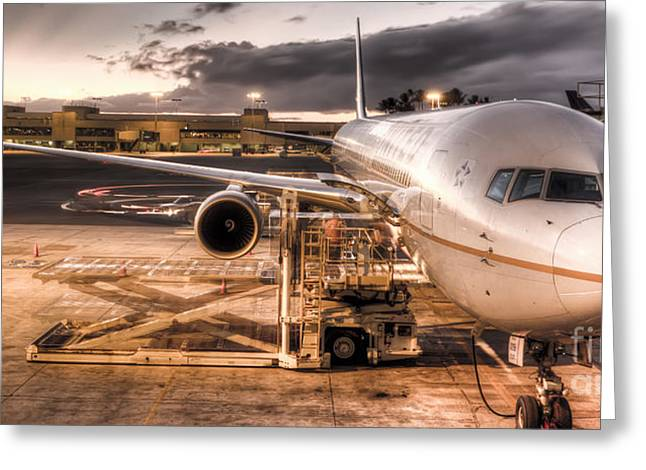 United Airlines Jet Ready For Departure Greeting Card