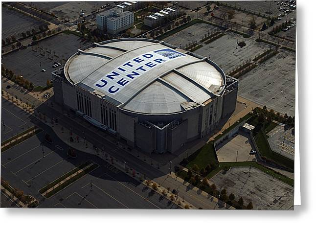 United Center Chicago Sports 09 Greeting Card by Thomas Woolworth