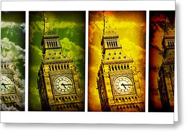 United Colors Of Big Ben Greeting Card by Stephen Stookey