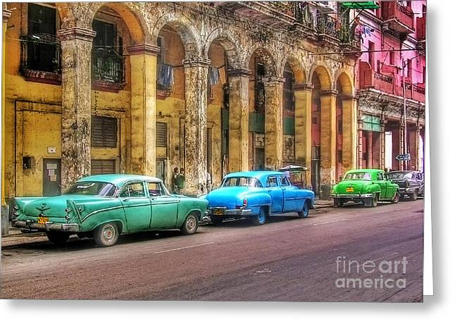 United Colors Of Coches Habaneros Greeting Card