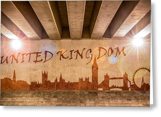 United Kingdom Graffiti Skyline Greeting Card
