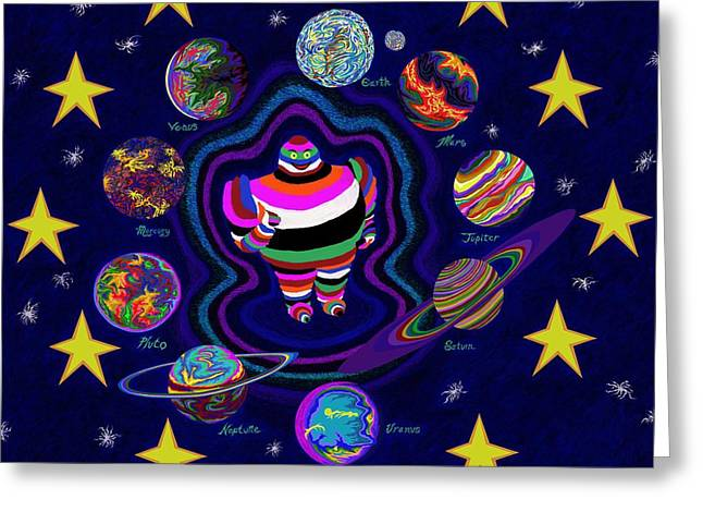 United Planets Of Eurotrazz Greeting Card by Robert SORENSEN