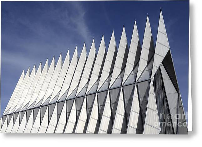United States Airforce Academy Chapel Colorado Greeting Card by Bob Christopher