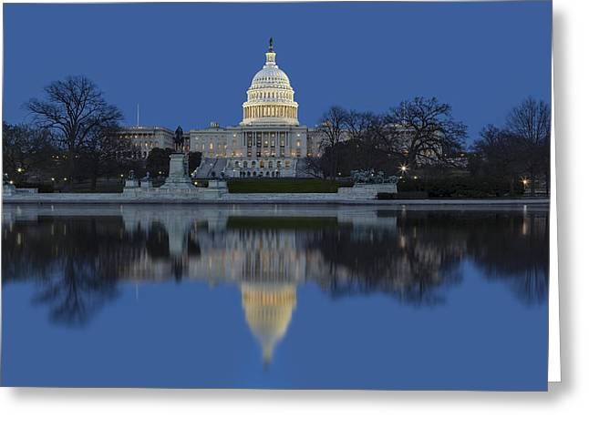 United States Capitol Building Greeting Card by Susan Candelario