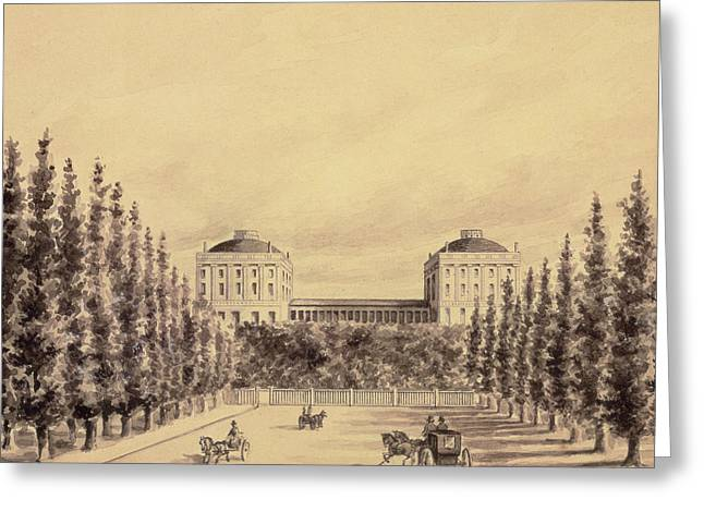 United States Capitol From Pennsylvania Avenue Greeting Card by Benjamin Henry Latrobe