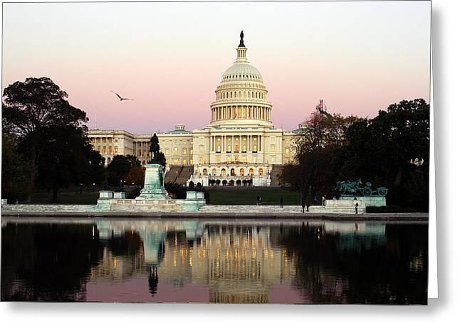 United States Capitol Washington Dc Greeting Card by Yue Wang