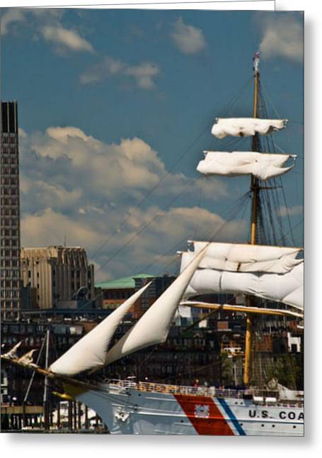 Greeting Card featuring the photograph United States Coast Guard Cutter by Caroline Stella