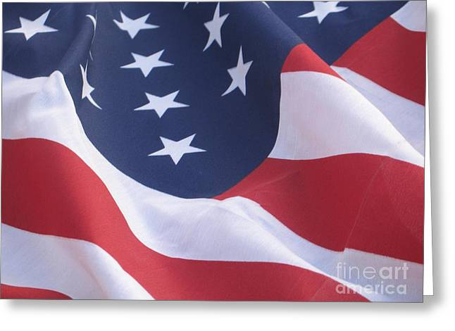 Greeting Card featuring the photograph United States Flag  by Chrisann Ellis