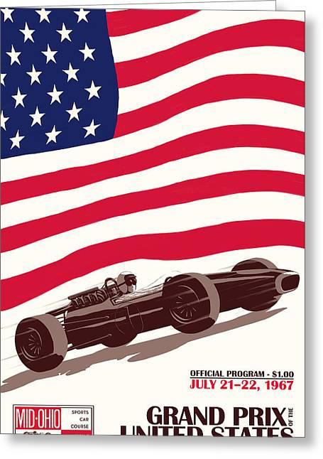 United States Grand Prix 1967 Greeting Card by Georgia Fowler
