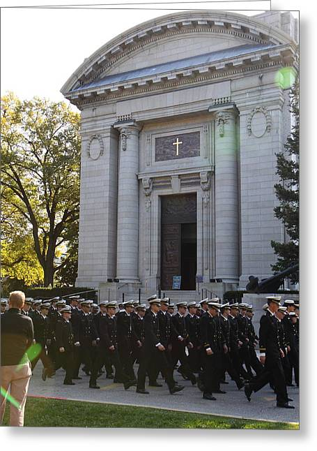 United States Naval Academy In Annapolis Md - 121238 Greeting Card
