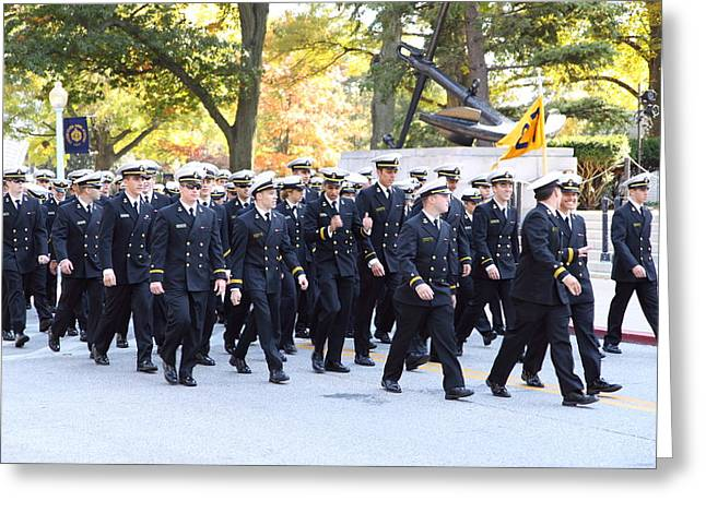 United States Naval Academy In Annapolis Md - 121241 Greeting Card by DC Photographer