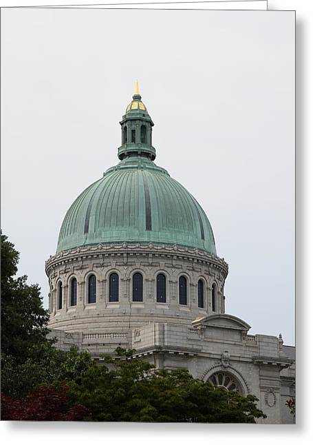 United States Naval Academy In Annapolis Md - 121258 Greeting Card by DC Photographer