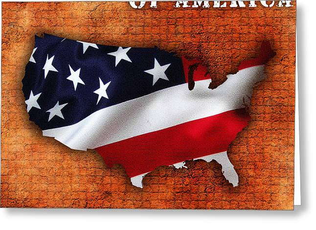 United States Of America Greeting Card by Marvin Blaine