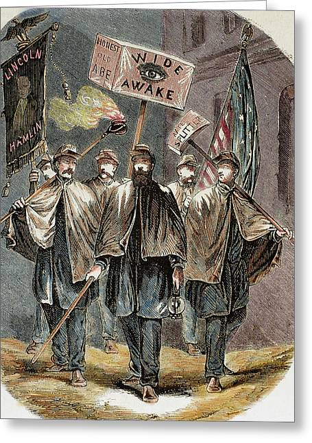 United States Supporters Of Abraham Greeting Card by Prisma Archivo