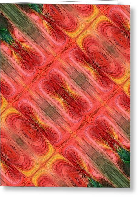 United Tiles Greeting Card by Linda Phelps