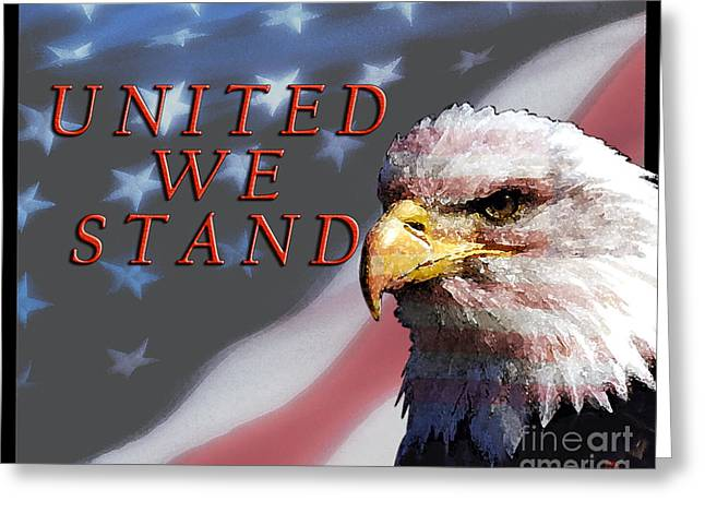 United We Stand Greeting Card by Lawrence Costales