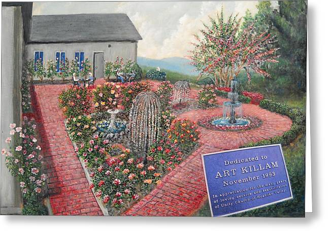 Unity Rose Garden  Greeting Card by Kenneth Stockton