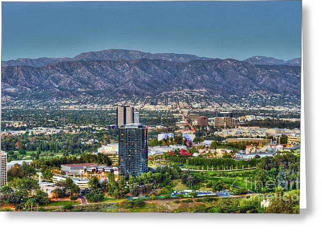 Universal City Warner Bros Studios Clear Day Greeting Card
