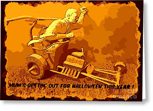 Universal Mosters Mummys Chariot Card Greeting Card by John Malone