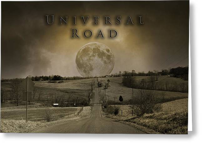 Universal Road Greeting Card by Betsy Knapp