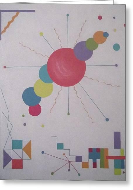 Universe 1 Greeting Card by Inge Lewis