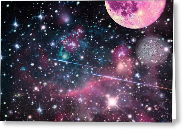 Greeting Card featuring the digital art Universe - Abstract by Ester  Rogers